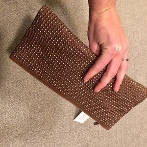 BCBGeneration Bronze Stud Foldable Clutch